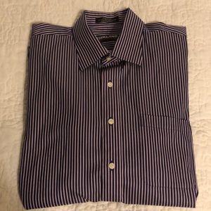 Kirkland Blue striped dress shirt 16 1/2 nwot